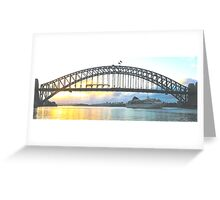 Rays Of Day - Sydney Harbour , Sydney Australia Greeting Card