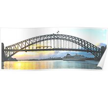 Rays Of Day - Sydney Harbour , Sydney Australia Poster