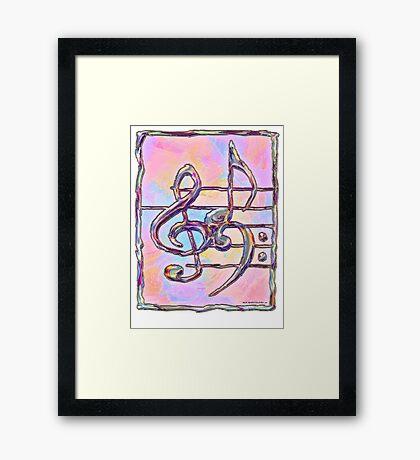 Music symbols 3 Framed Print
