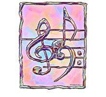 Music symbols 3 Photographic Print