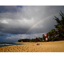 Rainbow at sunset Photographic Print
