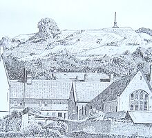 Ham Hill from Castle Street, Stoke-sub-Hamdon by Tonkin