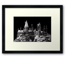 Hogwarts castle, the school of wizardry Framed Print