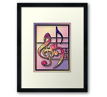 Music Symbols2 Framed Print