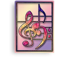 Music Symbols2 Canvas Print
