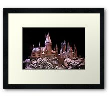 The beauty of Hogwarts castle at Christmas time Framed Print