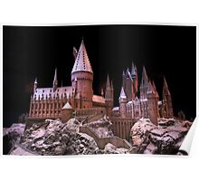 The beauty of Hogwarts castle at Christmas time Poster