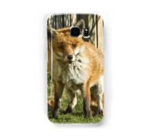 Sleepy fox in suburbia Samsung Galaxy Case/Skin