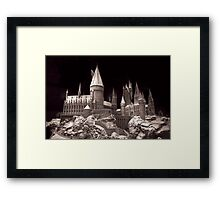 Harry potters school of wizardry, on the way up to Hogwarts Framed Print