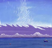 New Quay Sky by Charlotte Rose