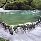 Plitvice waterfall by Charlotte Rose