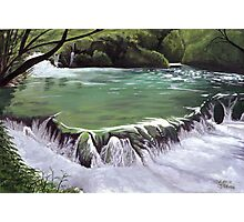Plitvice waterfall Photographic Print