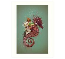 The Water Warrior Art Print