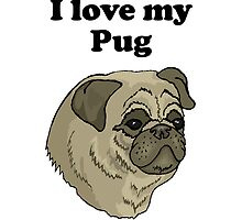 I Love My Pug by kwg2200