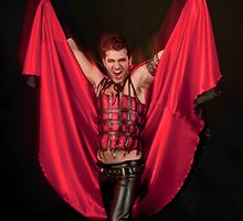 Male Devil costume on black background  by PhotoStock-Isra