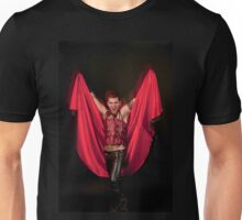Male Devil costume on black background  Unisex T-Shirt
