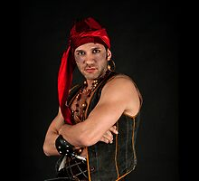 Strong Male Pirate on black background  by PhotoStock-Isra