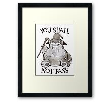 You Shall Not Pass Framed Print