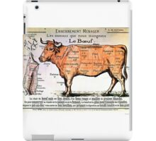 Beef - Diagram Depicting the Different Cuts of Meat iPad Case/Skin