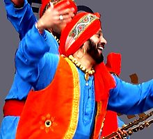 Bhangra Dancer. by Durlabh  Singh