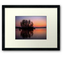 reflection sunset Framed Print