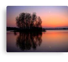 reflection sunset Canvas Print