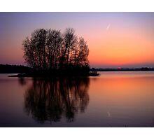 reflection sunset Photographic Print