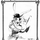 The White Rabbit - ALICE IN WONDERLAND - Ralph Steadman by BananaAlmighty