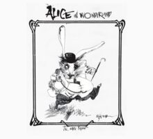 The White Rabbit - ALICE IN WONDERLAND - Ralph Steadman Kids Tee
