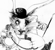 The White Rabbit - ALICE IN WONDERLAND - Ralph Steadman Sticker