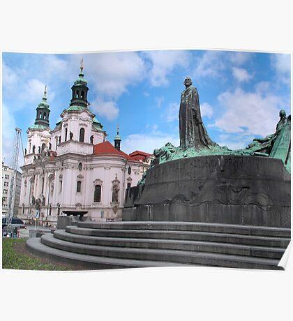 Church in Staromestske square Poster
