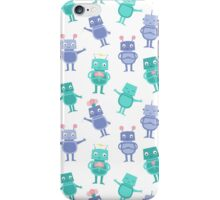 Robots and Flowers iPhone Case/Skin