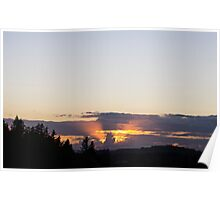 Michigan Cloud at Sunset Poster