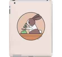 Cute Bunny Rabbit Scientist with Green Microscope iPad Case/Skin