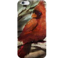 Cardinal in the snow iPhone Case/Skin
