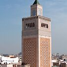 Minaret of the Mosqe El-Zitouna by Tom Gomez