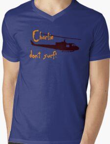 Charlie dont surf Mens V-Neck T-Shirt
