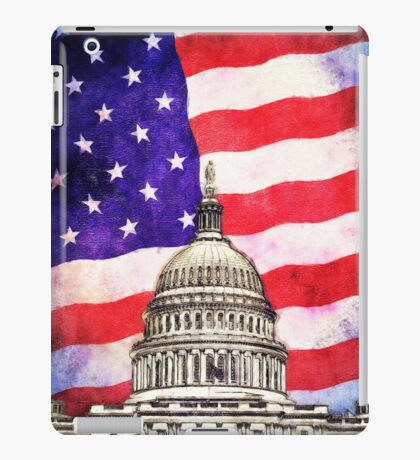 American Flag And Capitol Building iPad Case/Skin