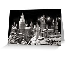 Hogwarts in the snow, is harry potter home Greeting Card