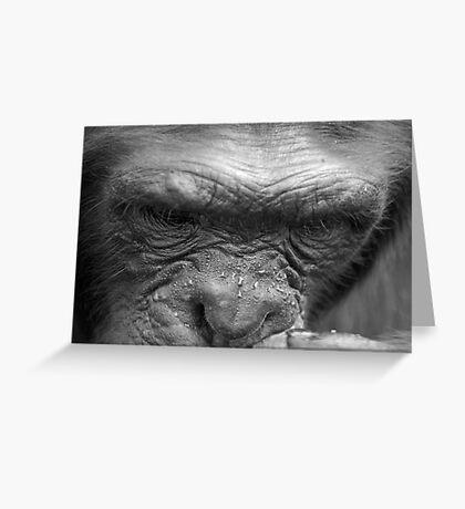 Chimp Think Greeting Card