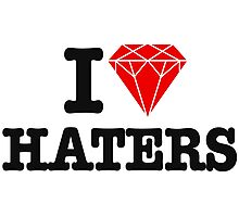 I love haters Photographic Print