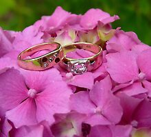 Wedding Rings - Pink Hydrangea - NZ by AndreaEL