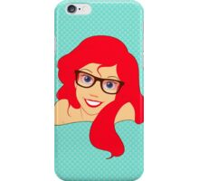 Hipster Ariel wearing glasses iPhone Case/Skin