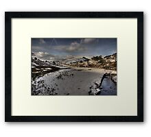 Snow On The  Snake Framed Print