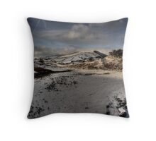 Snow On The  Snake Throw Pillow