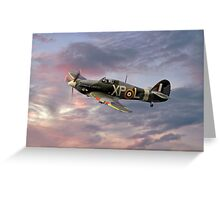 Hawker Hurricane - Evening Sortie Greeting Card
