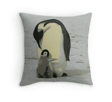 Penguin Duo Throw Pillow