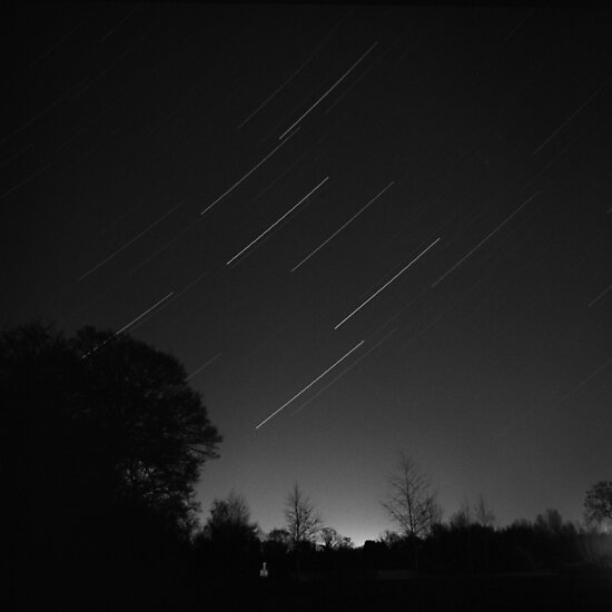 Leo (and Saturn) Star Trail by Dave Pearson