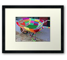 A Cosy Wheelbarrow Framed Print