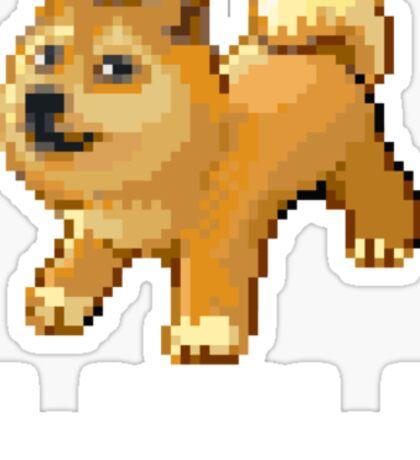 Pixel Doge Wow Sticker